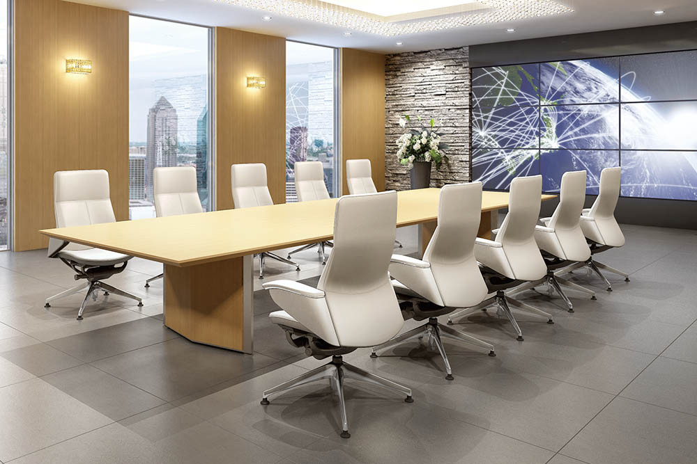 white leather executive chair