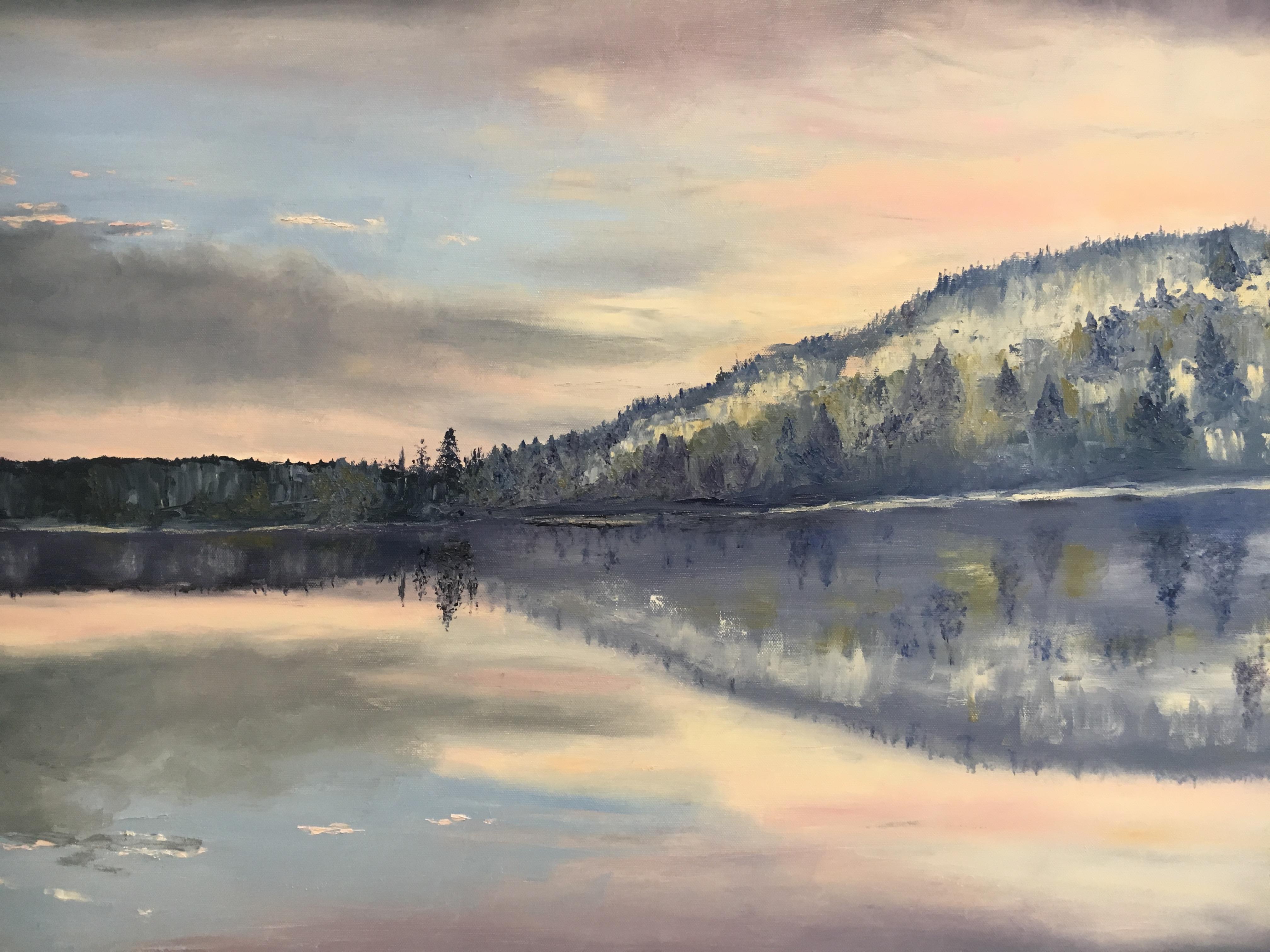 lever du jour sur le lac d'Inlay