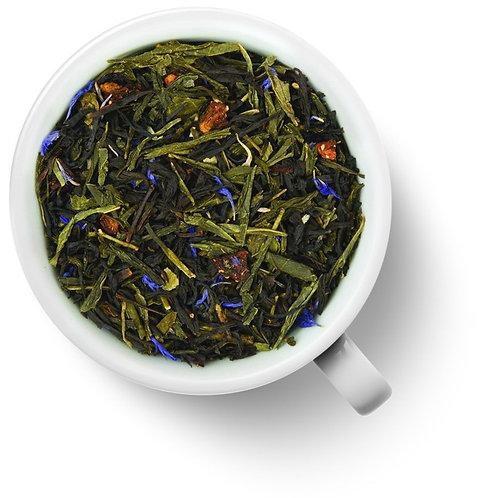 Чай зелёный с черным Клубника в шампанском