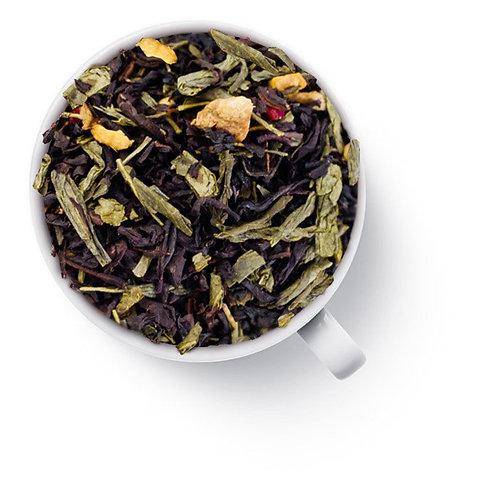 Чай зелёный с чёрным С имбирем и малиной