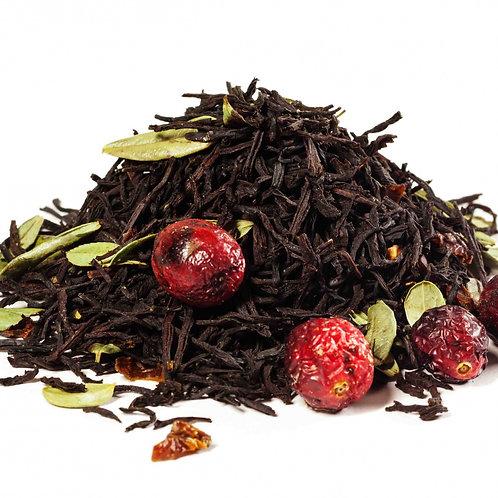 Черный чай Брусничный Премиум