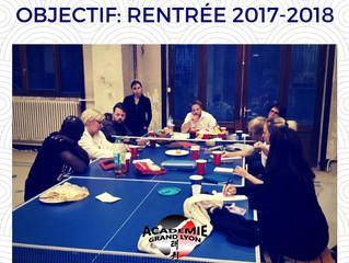 Objectif: rentrée 2017-2018