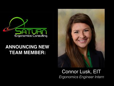 Announcing New Ergonomics Engineer Intern:  Connor Lusk, EIT