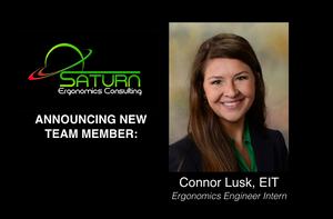 Connor Lusk, Ergonomics Engineer Intern at Saturn Ergonomics Consulting