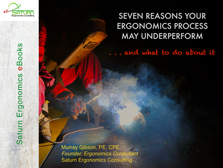 eBook Teaser . . . Seven Reasons Your Ergonomics Process May Underperform