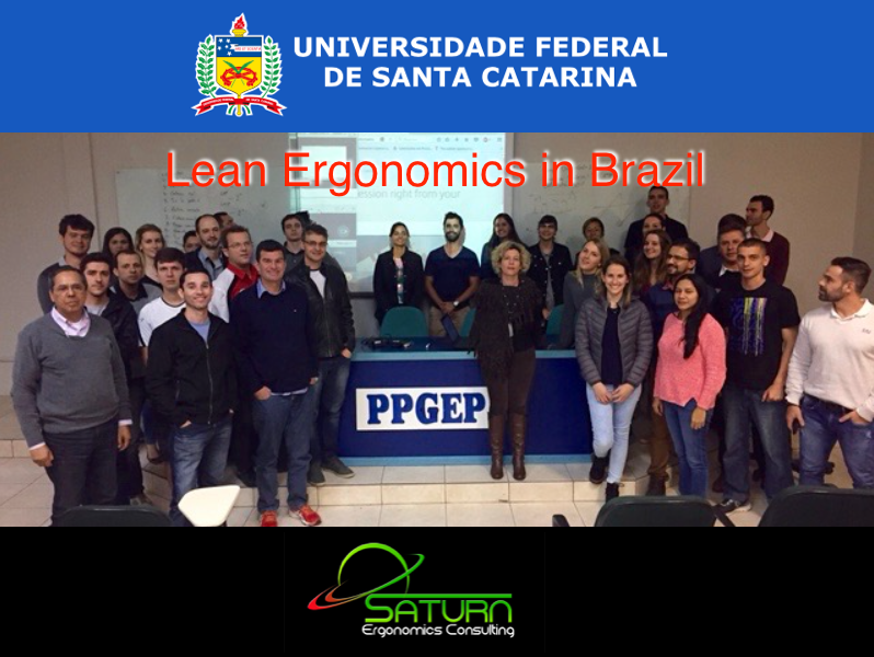 UFSC Ergonomics and Lean Masters & Doctorate students