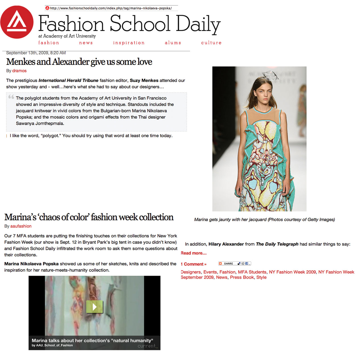 fashion school daily