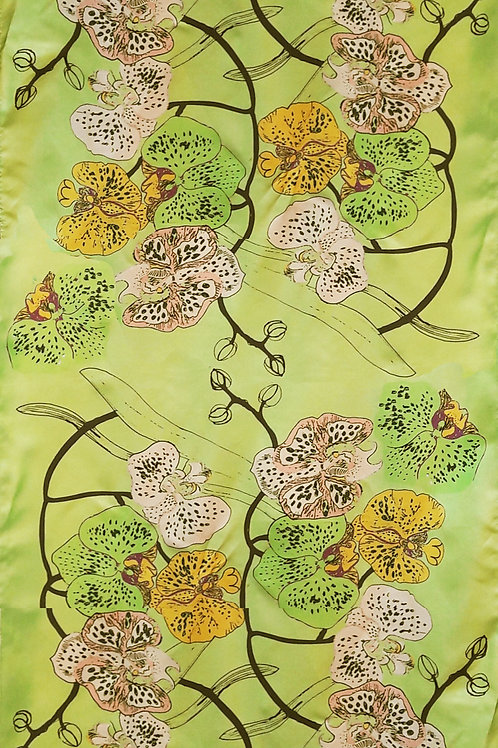 Phala Orchid Silk Scarf