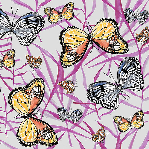 Butterflies with Pink leaves