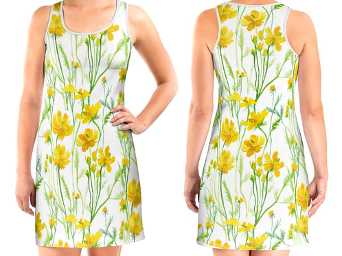 Yellow flowers Dress