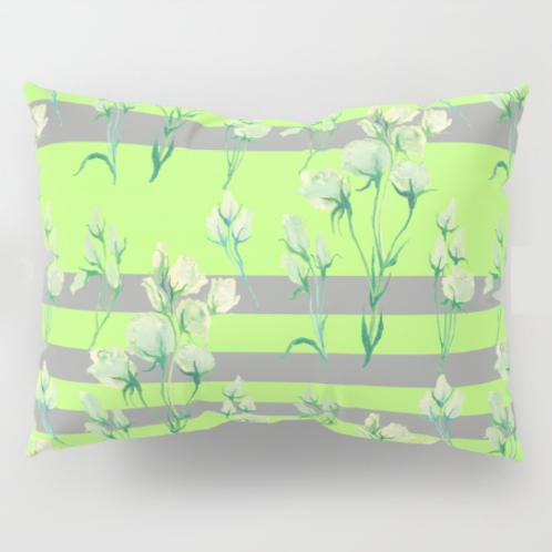 White Rose Pillow Shams