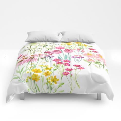 Flower garden Douvet covers