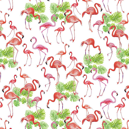 Flamingos with Palms