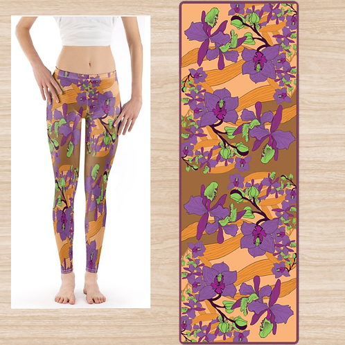 Set Yoga Mat & Leggings