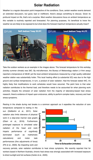 Solar Radiation Heat Stress e-Bulletin