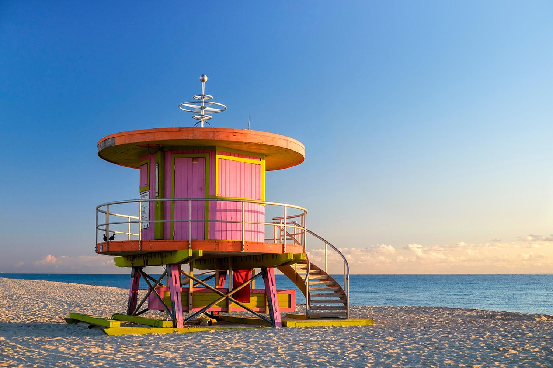 10th Street lifeguard stand South Beach, Miami, Florida