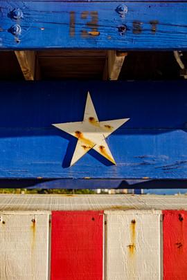 Star and stripes South Beach, Florida
