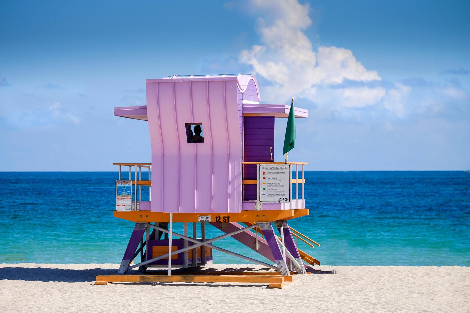 12th Street lifeguard stand South Beach, Miami, Florida
