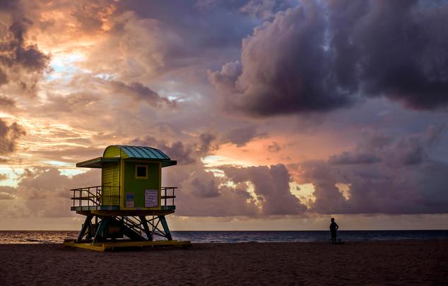 6th Street lifeguard stand South Beach, Miami, Florida