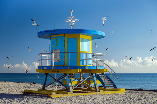 Lincoln Road lifeguard stand, South Beach, Miami