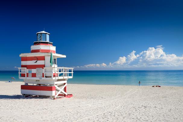 South Pointe Beach lifeguard stand South Beach, Miami, Florida
