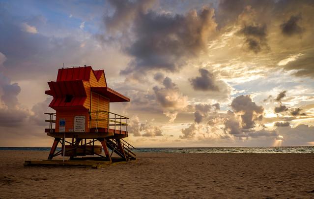8th Street lifeguard stand South Beach, Miami, Florida