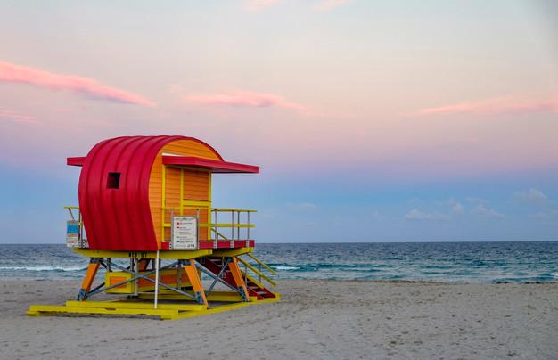 13th Street lifeguard stand South Beach, Miami, Florida