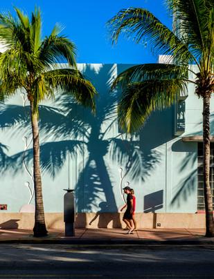 Land of shadows South Beach, Miami, Florida