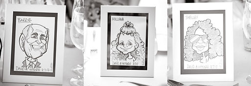 vix caricatures wedding table place cards