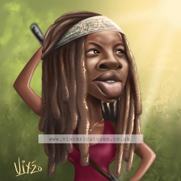 Michonne Caricature.jpg
