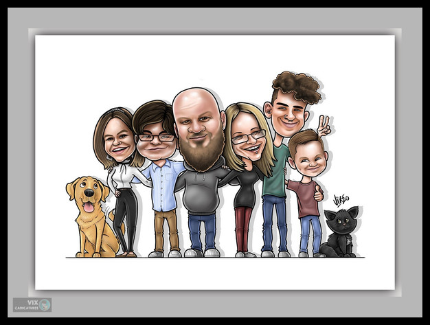 Colour Caricature gift from photos 11 fa
