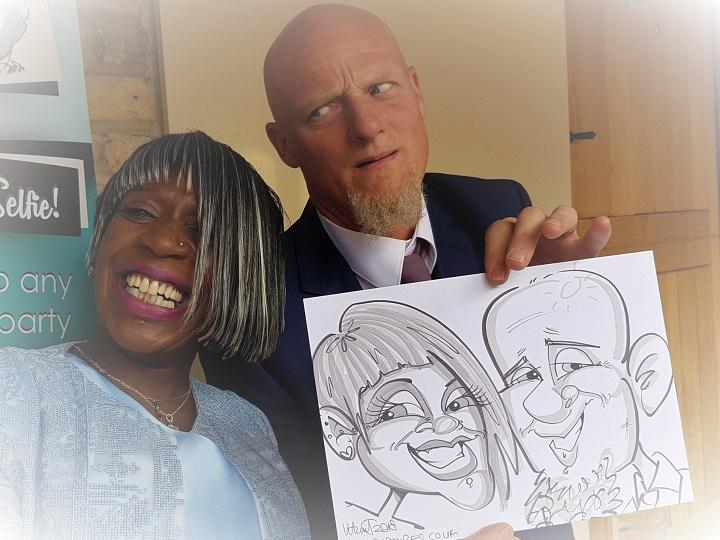 Live Speedy Caricatures, Caricaturis