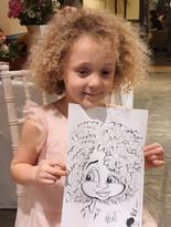 little girls caricature