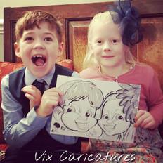 children caricature drawing