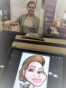 Live digital corporate caricature