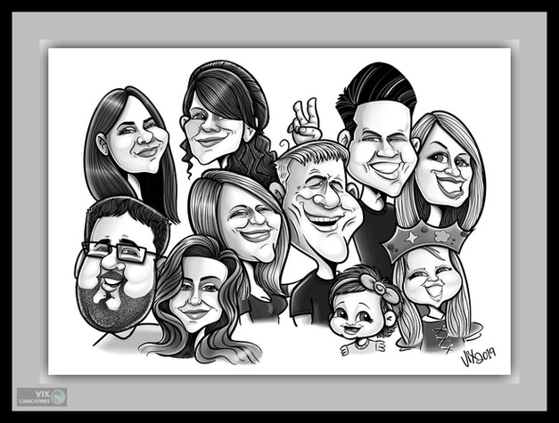 Colour Caricature gift from photos 10 fa