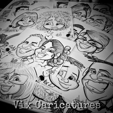 caricature drawing at a wedding