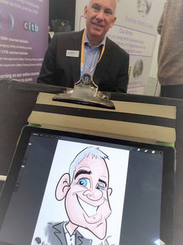 Live digital corporate caricature