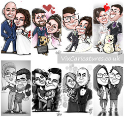 Wedding Couples Caricatures