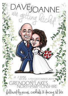 Wedding Invitation Caricature