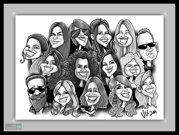 Colour Caricature gift from photos 6 tea