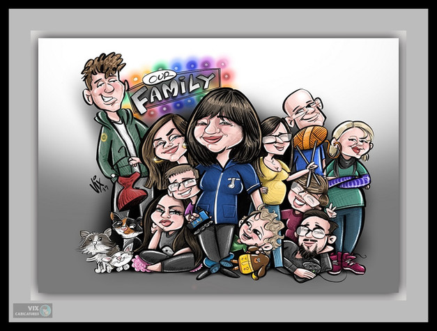 Colour Caricature gift from photos 12 fa