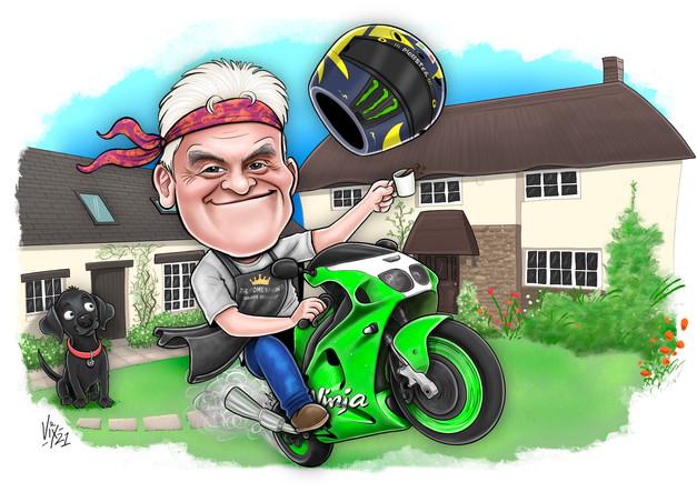 birthday gift caricature motobike.jpg