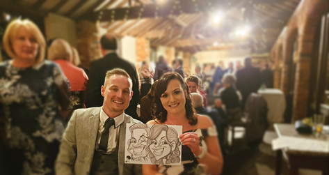 live wedding caricatures