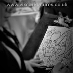 top table live caricature drawing