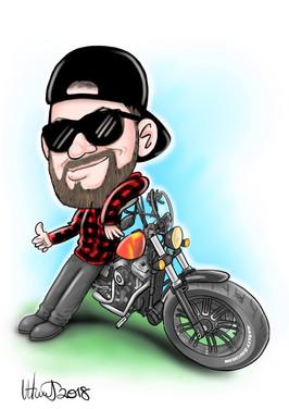 Motorbike Caricature