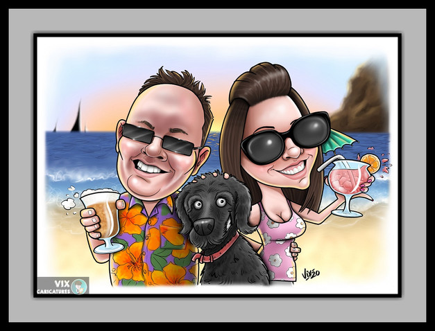 Caricature Gift from Photos Christmas Bi
