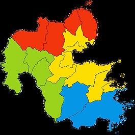 大分県のマップ