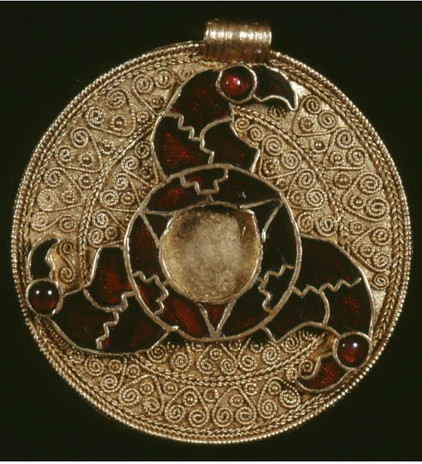 Disc Pendant, Early Anglo-Saxon, Kings Field, Faversham
