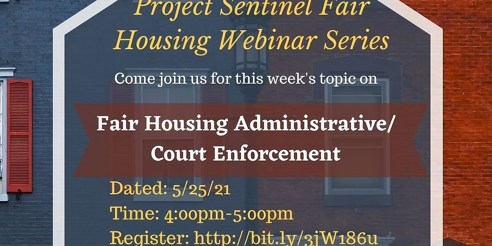 Fair Housing Administrative/ Court Enforcement